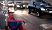 Spider-Man being sad in the streets. No one invited me to The Avengers.