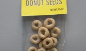 A picture of Cheerios cereal in a package labeled Donut Seeds.
