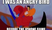 Iago from the Disney movie Aladdin. I was an angry bird before the iPhone game.