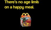 Dear McDonald's cashier, please don't give me that look. There's no age limit on a happy meal. And don't forget the toy.