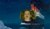 The Titanic about to hit an iceberg with Ermahgerd girl's face. Ermahgerd erceberg.